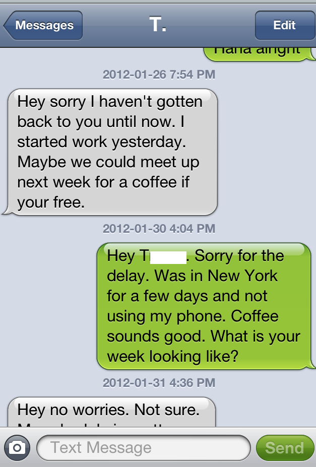 Examples of sexting conversations