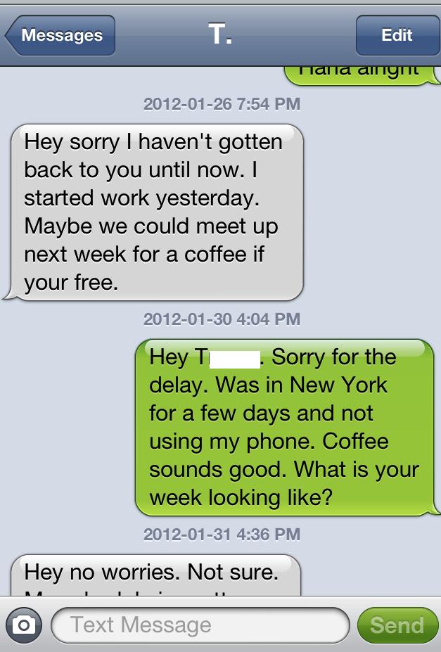 Sexting dialogue examples